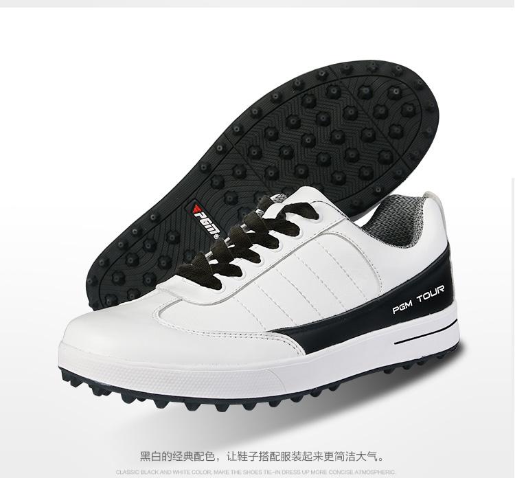PGM Sepatu Olahraga Pria sepatu golf tahan air (Hitam dan