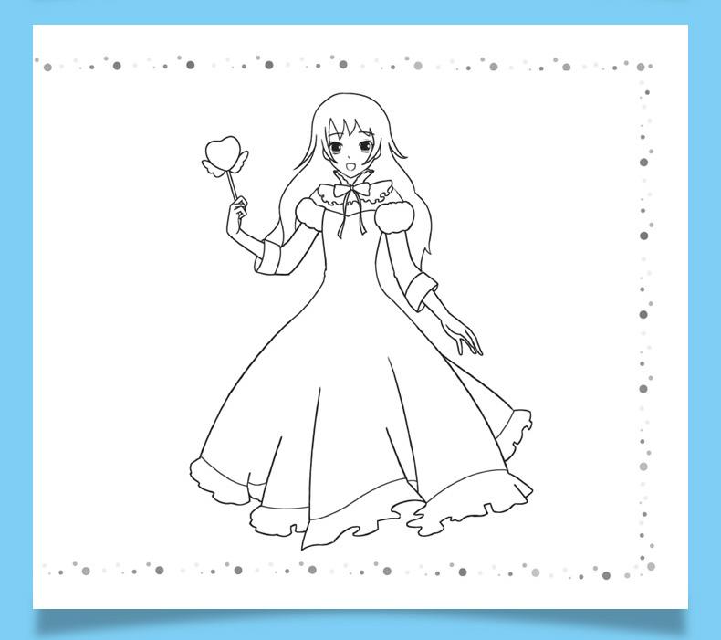 公主换装简笔画大全6册涂色书 女孩公主学画画涂色秀入门绘画启蒙教材