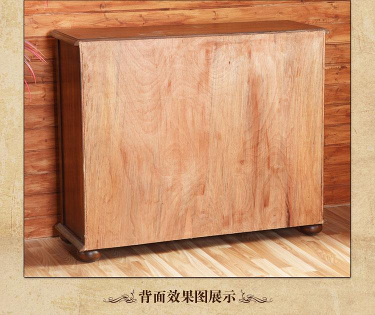 红庭家具美式乡村风格实木鞋柜多用柜玄关柜高档间