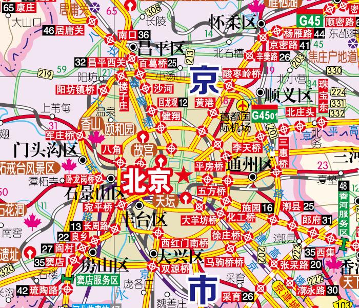 2015北京及周边交通旅游地图