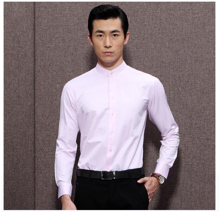 柒牌中华立领衬衫 秋装新品长袖衬衫 男士时尚