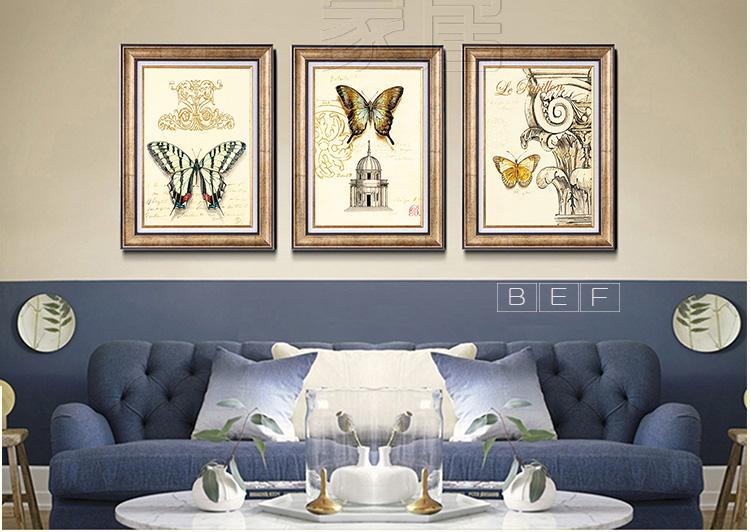 欧式客厅沙发背景墙装饰画