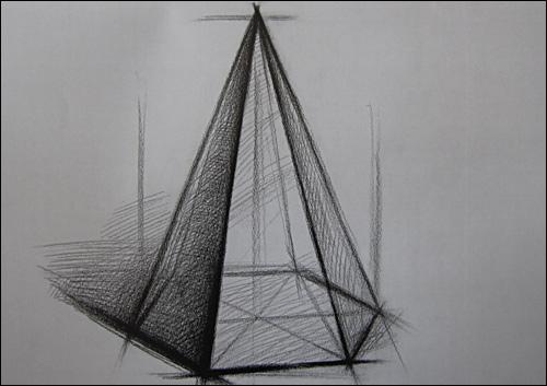 结构素描范本:单个静物结构素描 刘军