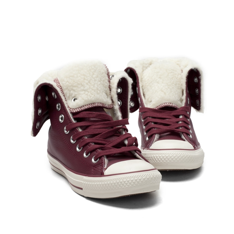 匡威converse 女鞋高帮加绒帆布鞋 546591c 546591 39