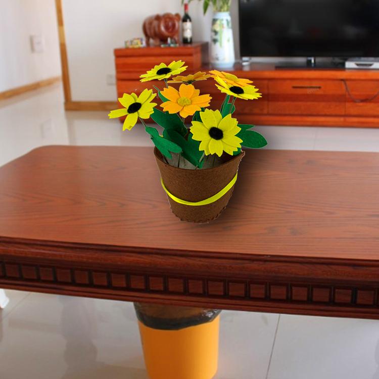 免裁剪花盆布艺植物盆栽儿童玩具作幼儿园手工制作diy