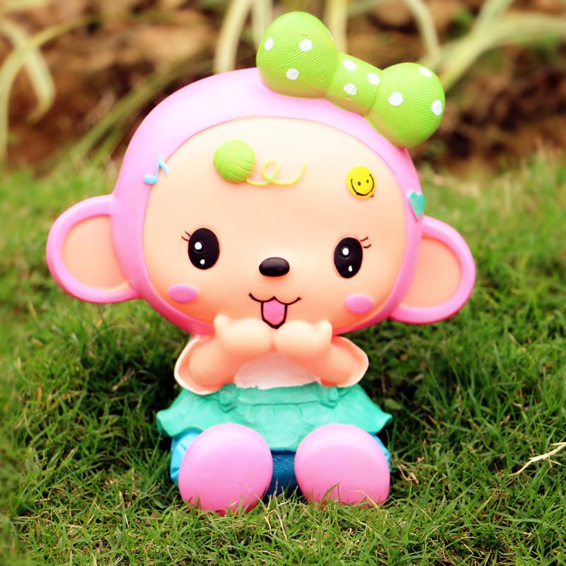 可爱卡通悠嘻小猴存钱罐 大容量储钱罐儿童节宝宝生日图片