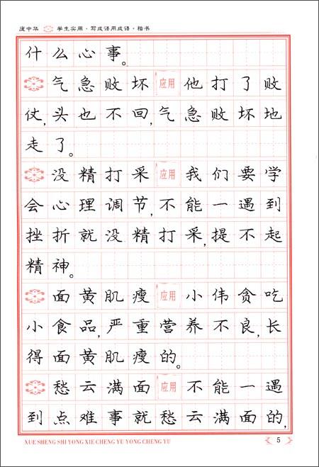 庞中华学生实用:写成语 用成语 楷书 钢笔字帖 庞中华