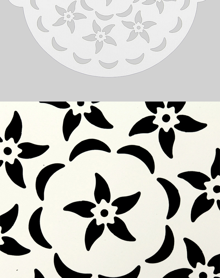 墨贝轩 环保3pc带耳喷花蛋糕模硬喷花模---乳白色 happy款 20.7cm