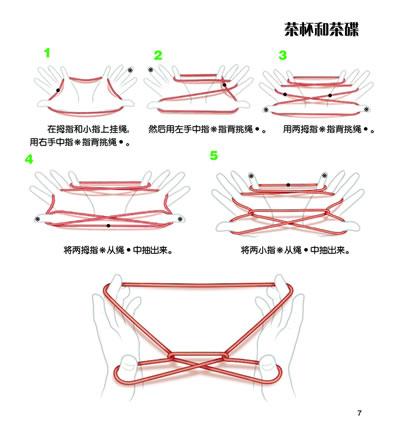 翻绳六角星步骤图解