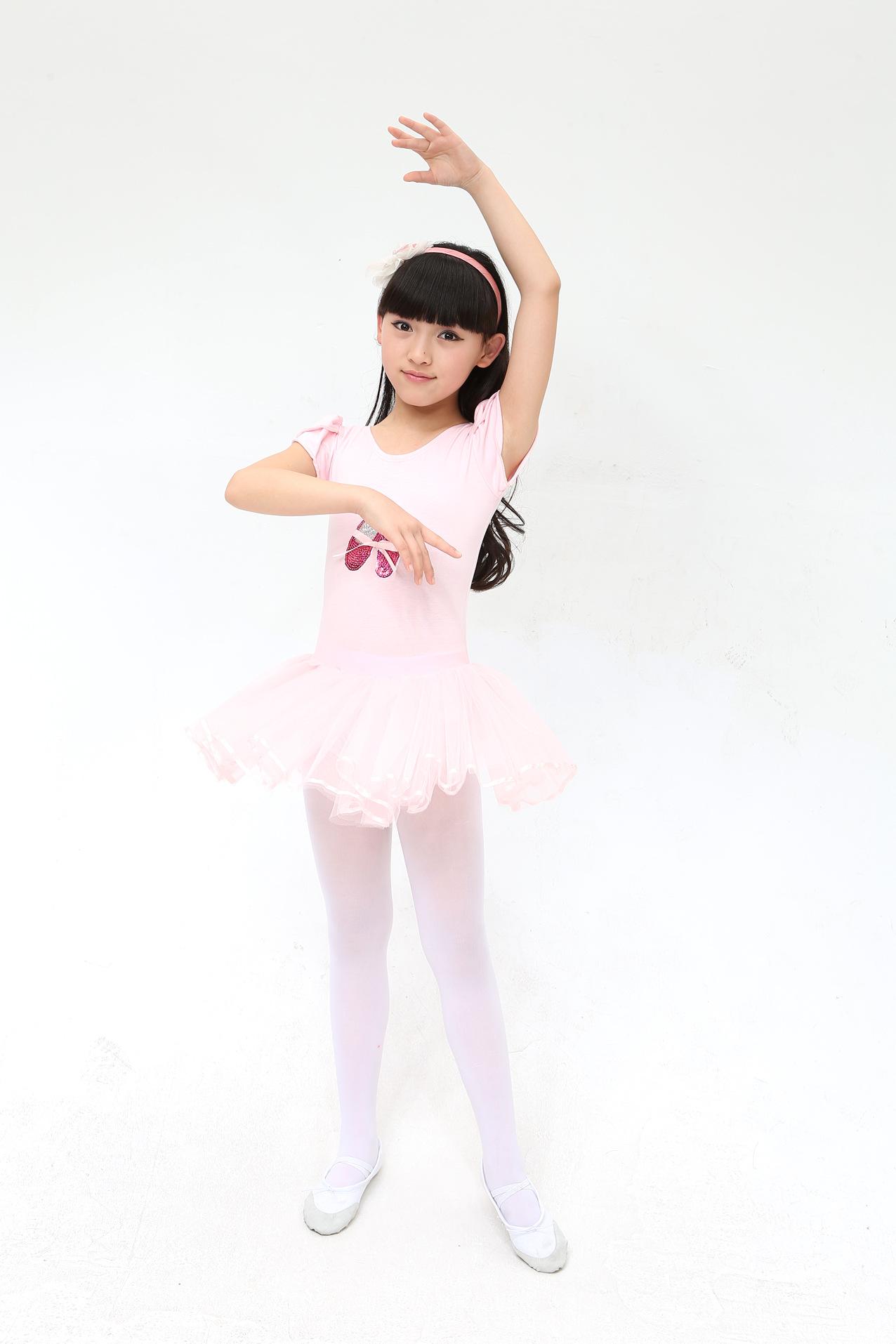 女芭蕾舞裙女童练功服女孩夏季
