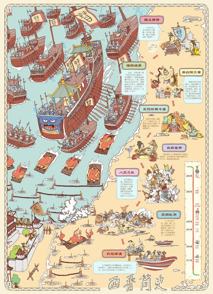 中国历史地图 手绘中国·人文版