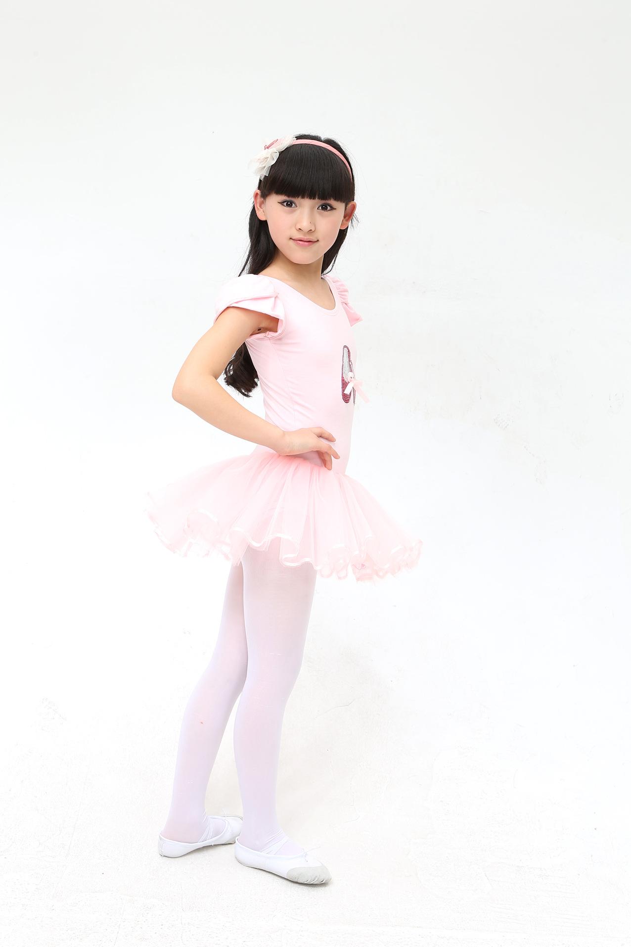 儿童舞蹈服练功服春夏短袖女童