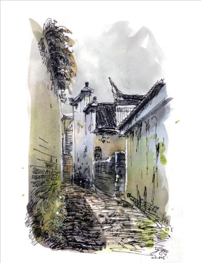 一支笔的静心之旅——钢笔淡彩风景速写(全彩)