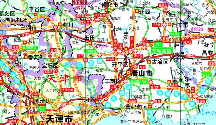 旅游/地图 导游必备 台湖数据2016唐山市交通地图册(全新版) 河北省