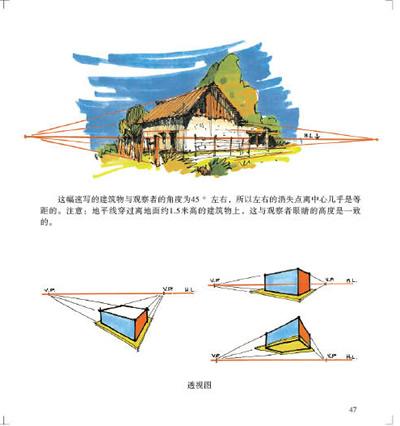 c52美国设计学院教授讲课手稿 奥列佛风景速写教学 9787549400829