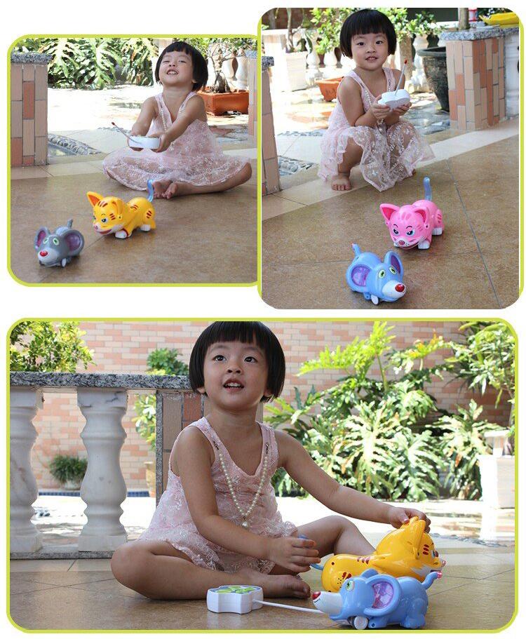 金鹰卡通 猫抓老鼠遥控玩具