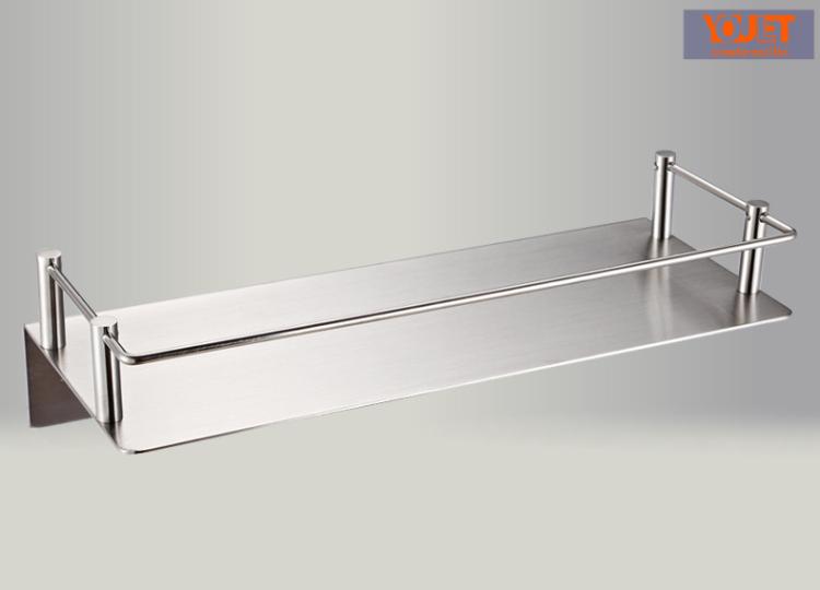 德国YOULET 不锈钢浴室置物架卫生间洗水间配毛巾挂钩 全钢无钩