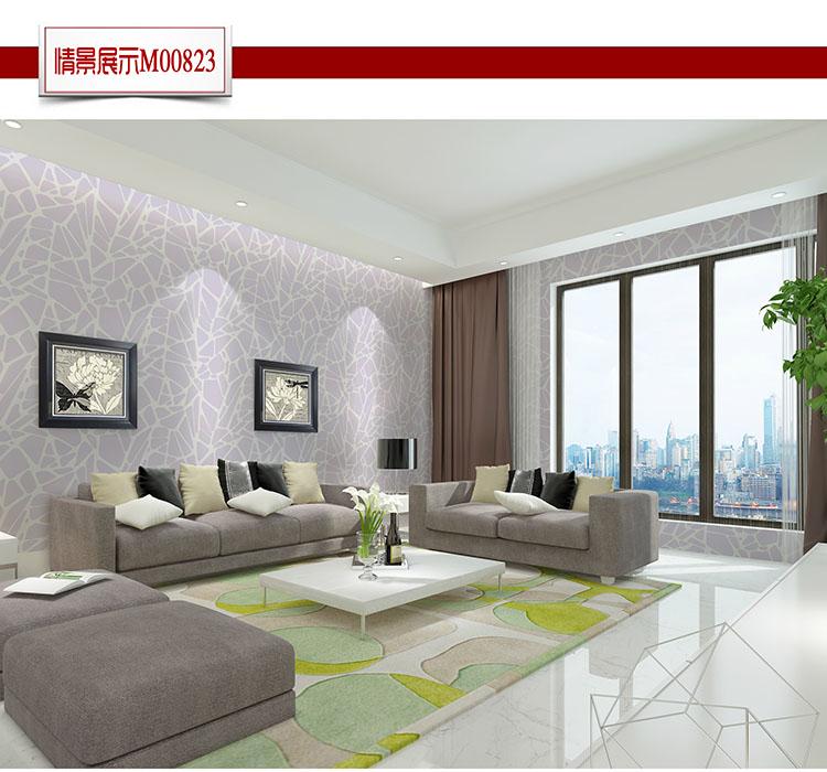 环保无纺布墙纸简约现代卧室客厅电视背景墙壁纸0
