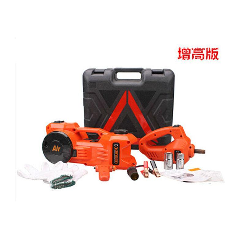 鼎尚  车载12v电动液压卧式千斤顶车用含充气泵电动扳手图片