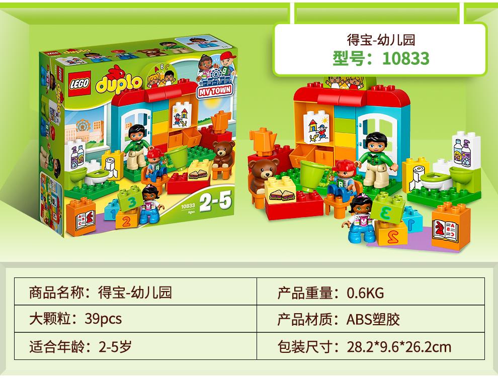 得宝幼儿园型号:10833coptos256e商品名称:得宝-幼儿园产品重量:0.6KG大颗粒:39pcs产品材质:ABS塑胶适合年龄:2-5岁包装尺寸:28.2*9.6*262cm-推好价   品质生活 精选好价