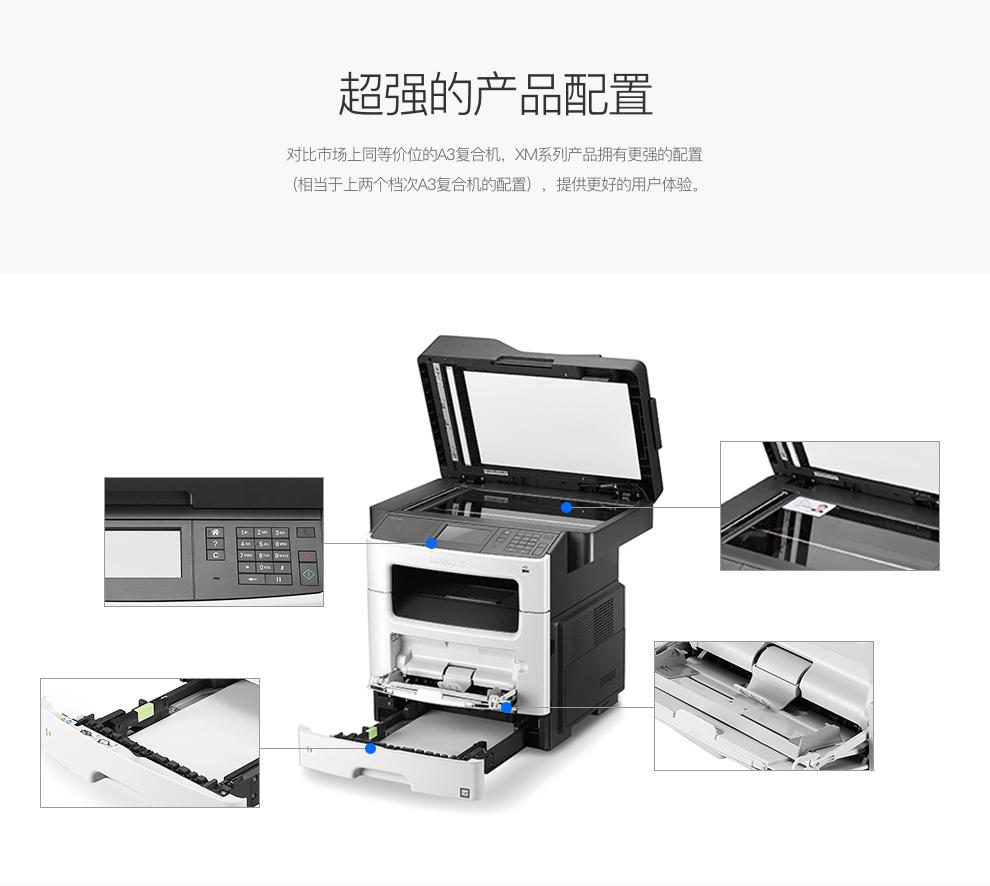 利盟(Lexmark)XM1145 A4黑白多功能復合機 超強產品配置