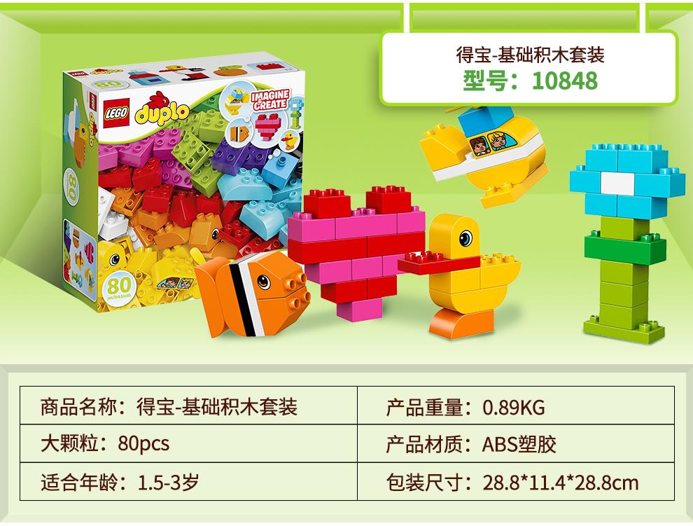 得宝-基础积木套装型号:108488O% E9商品名称:得宝-基础积木套装产品重量:0.89%KG大颗粒:80pcs产品材质:ABS塑胶适合年龄:1.5-3岁包装尺寸:288*114*28.8cm-推好价   品质生活 精选好价