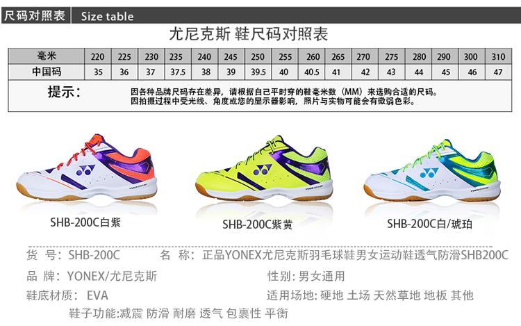 Giày cầu lông nữ Yonex 200C 37 - ảnh 1