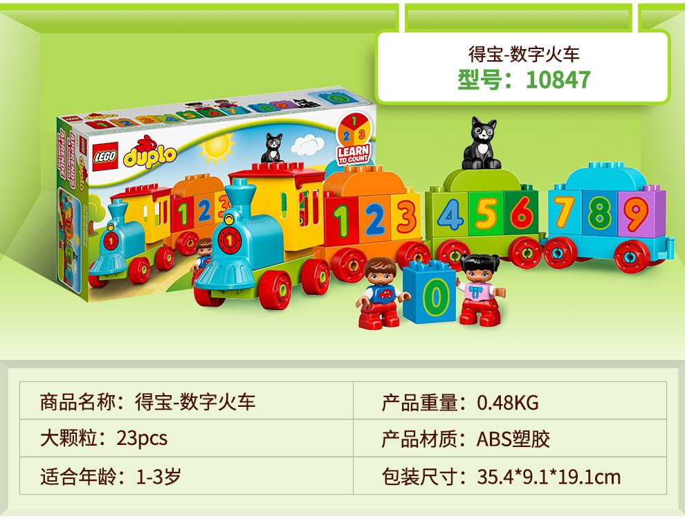 得宝数字火车型号:10847LEARN2们28A589商品名称:得宝-数字火车产品重量:0.48KG大颗粒:23pcs产品材质:ABS塑胶适合年龄:13岁包装尺寸:354*9.1*191cm-推好价   品质生活 精选好价