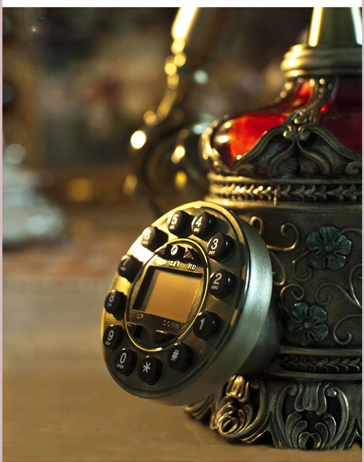芮诗凯诗帕多瓦来电显示仿古家用座机电话欧式复古时尚创意电话机 帕多瓦/锌合金话筒