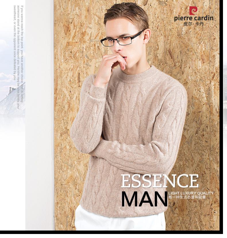 Áo len lông cừu nam Pierre Cardin 2017 180XL70 80KG WA87021 - ảnh 1