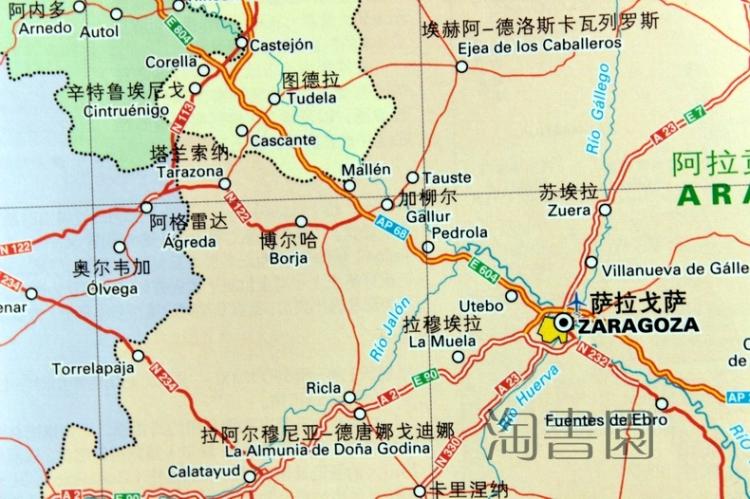 西班牙地图 葡萄牙地图 安道尔地图 米其林系列旅游地图