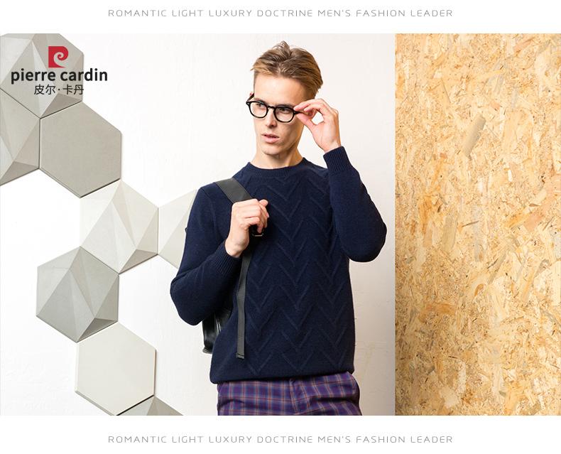 Áo len lông cừu nam Pierre Cardin 1002017 175L6570KG WA86158 - ảnh 12