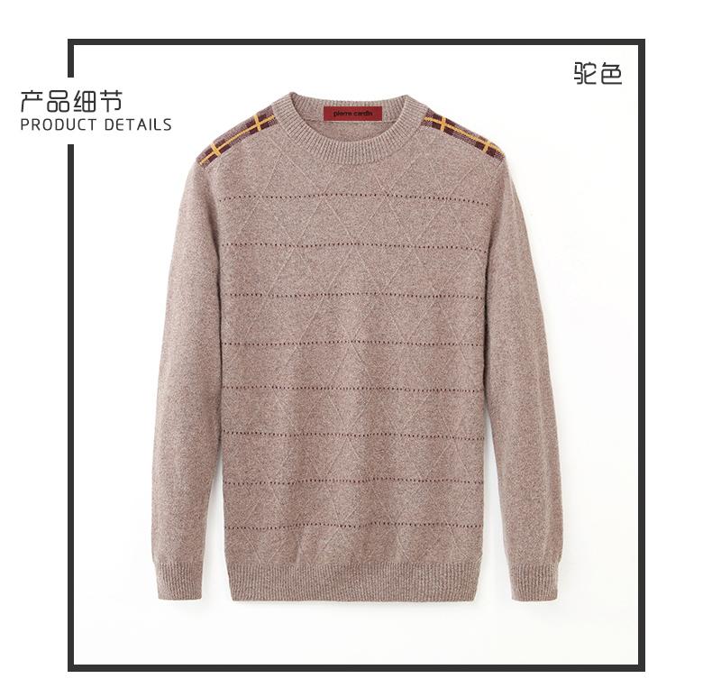 Áo len lông cừu nam Pierre Cardin 2017 170M55 65KG YR003 - ảnh 7