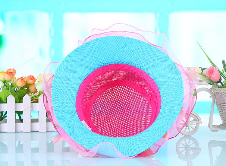 婴儿帽韩版儿童草帽夏天女童渔夫帽沙滩防晒盆帽男童遮阳凉帽宝宝帽子
