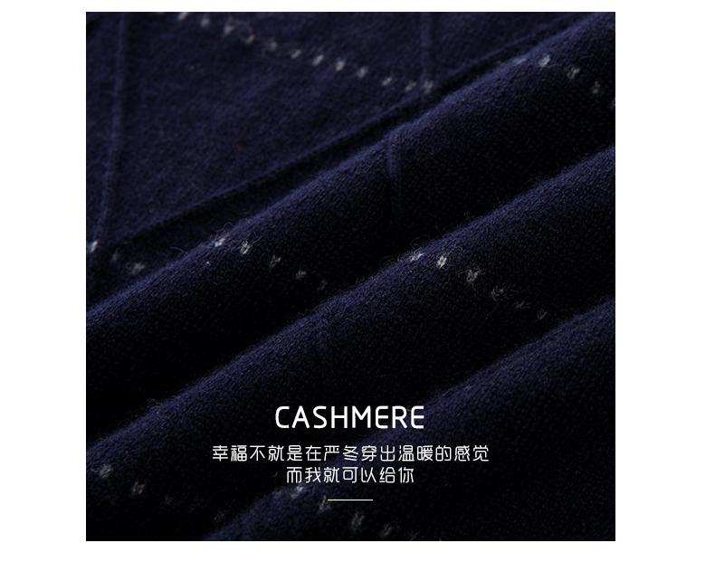 Áo len lông cừu nam Pierre Cardin 2017 170M55 65KG YR003 - ảnh 4