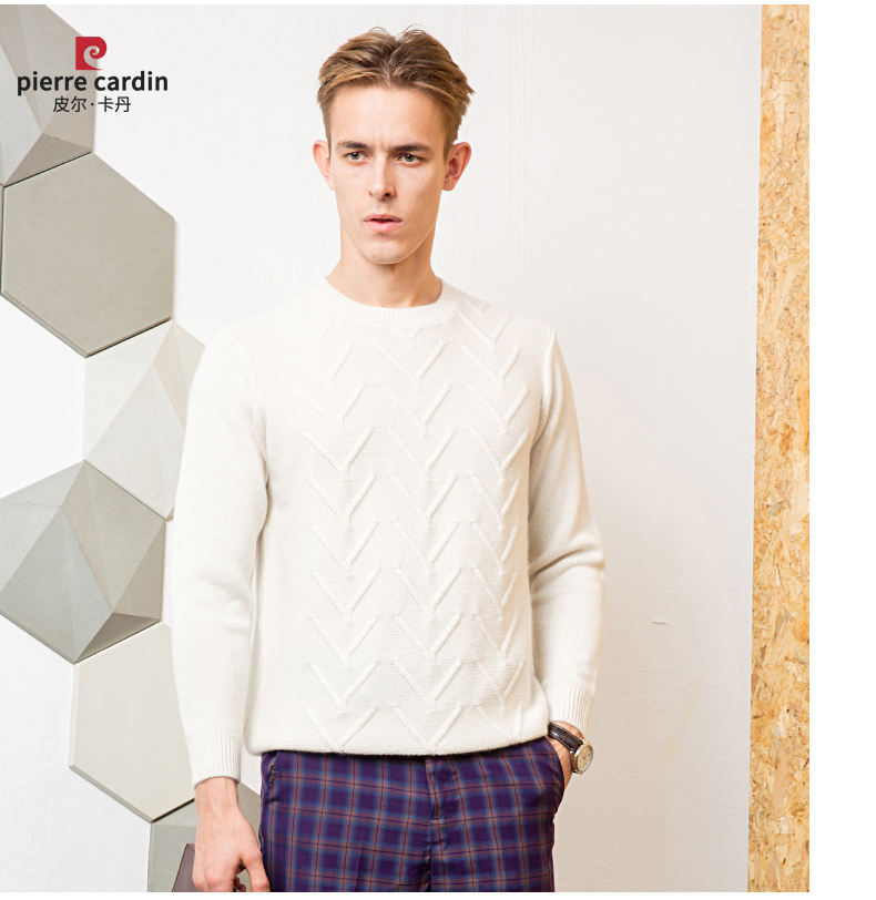 Áo len lông cừu nam Pierre Cardin 1002017 175L6570KG WA86158 - ảnh 17