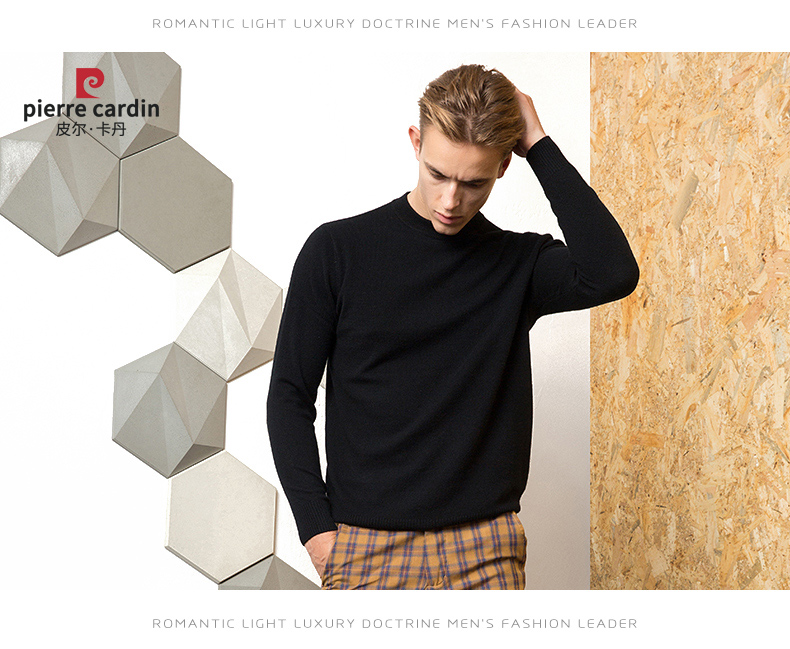 Áo len lông cừu nam Pierre Cardin 2017 180XL70 80KG YR006 - ảnh 18