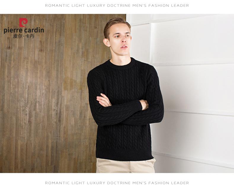 Áo len lông cừu nam Pierre Cardin 2017 180XL70 80KG WA78208 - ảnh 11