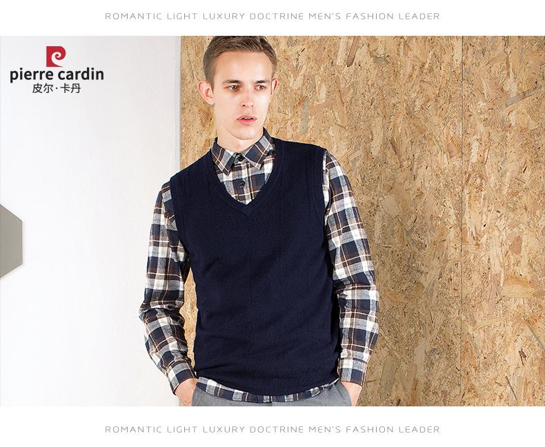 Áo len lông cừu nam Pierre Cardin V 175L65 70KG WA152 - ảnh 18