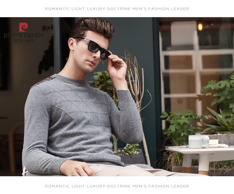Áo len lông cừu nam Pierre Cardin 2017 170M55 65KG YR003 - ảnh 15