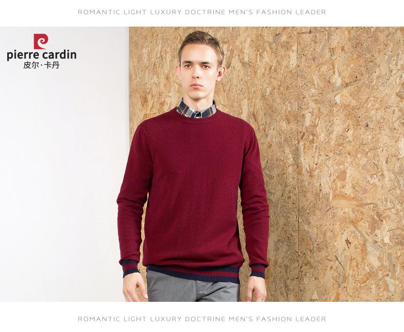 Áo len lông cừu nam Pierre Cardin 2017 175L65 70KG WA096 - ảnh 19