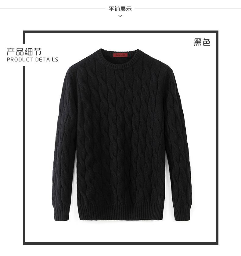 Áo len lông cừu nam Pierre Cardin 2017 180XL70 80KG WA78210 - ảnh 5