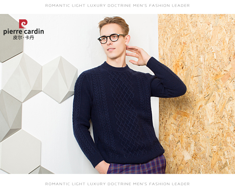 Áo len lông cừu nam Pierre Cardin 2017 180XL70 80KG WA86038 - ảnh 11