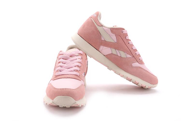 reebok 锐步女鞋 gl6000 女子复古跑步鞋运动休闲鞋 粉红 39