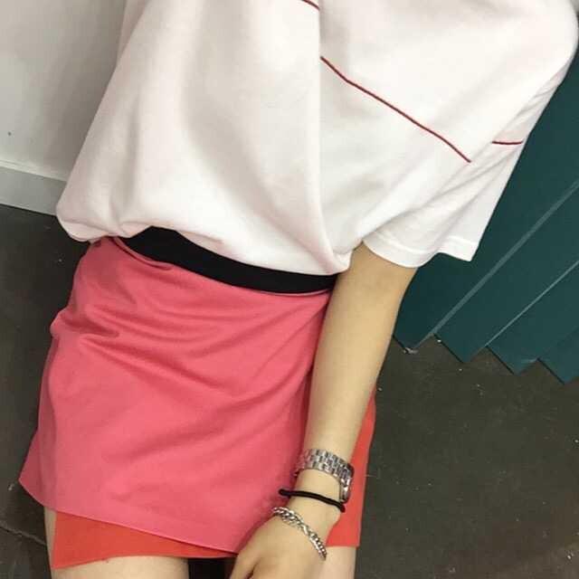 莉朵曼 2015新款欧美风简约百搭宽松红绳蝴蝶结绣花t恤女 白色 均码
