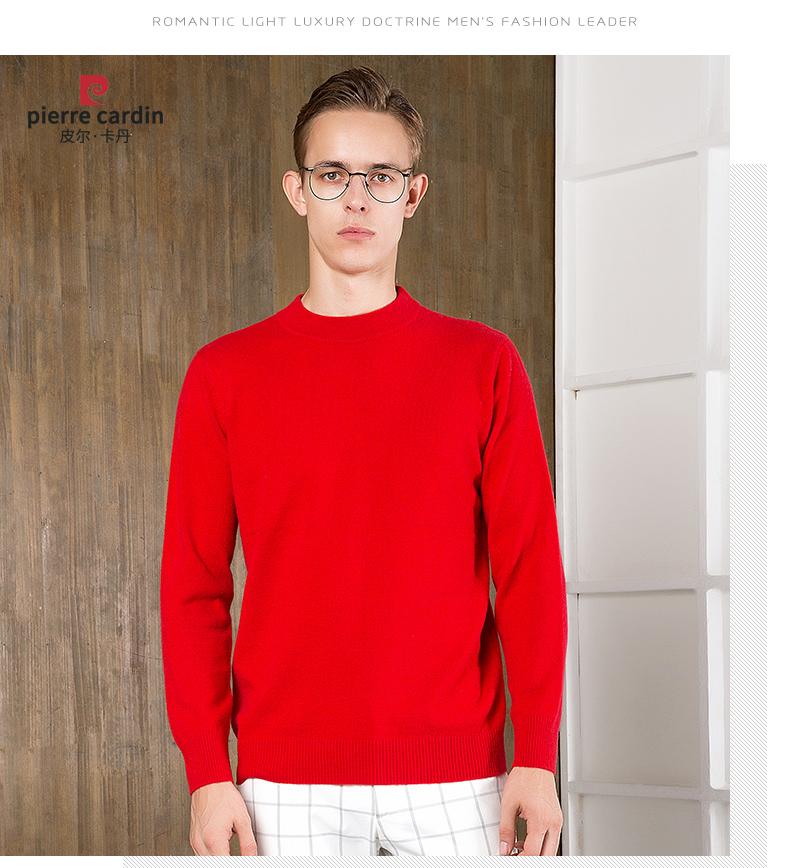 Áo len lông cừu nam Pierre Cardin 2017 180XL70 80KG YR006 - ảnh 29