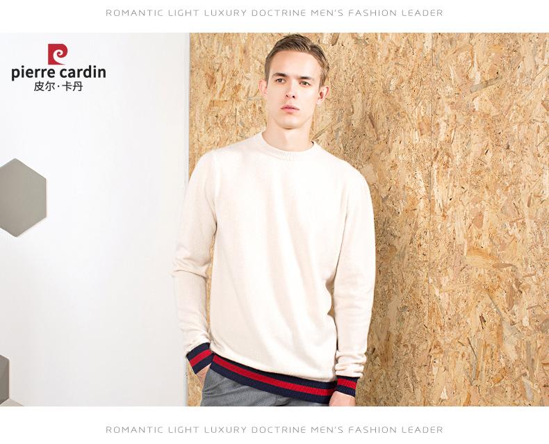 Áo len lông cừu nam Pierre Cardin 2017 175L65 70KG WA096 - ảnh 22