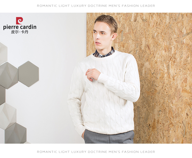 Áo len lông cừu nam Pierre Cardin 2017 180XL70 80KG WA78210 - ảnh 18