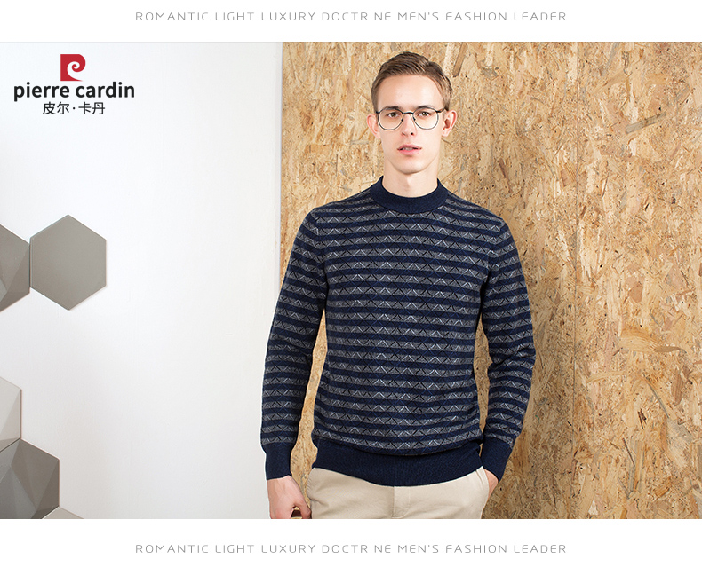 Áo len lông cừu nam Pierre Cardin 2017 1852XL80 90KG WA87025 - ảnh 11