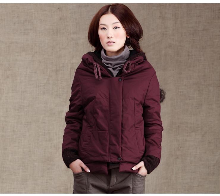 新款保暖修身裁剪棉衣外套 JC20037